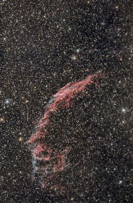 NGC6992, les dentelles Est, 30x1 min, C14 hyperstar, 14 juillet, Lionel