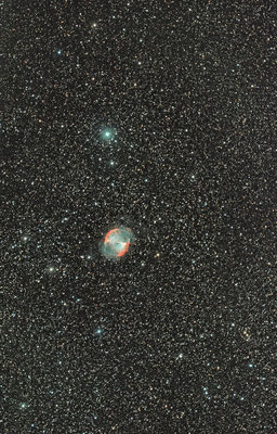M27, Ha OIII RVB, C14 Hyperstar, 12 septembre, Lionel