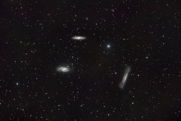 M65, M66 et NGC3628, C14 hyperstar + QHY8L sur EQ8, 18x5min, 14 avril, Lionel
