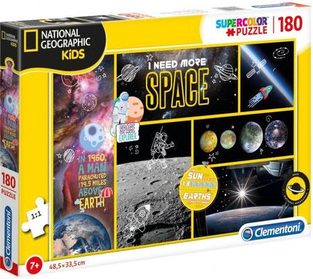180 st. I NEED MORE SPACE PUZZEL D 128 Ontdek het zonnestelsel, de planeten en leuke weetjes. Wist je dat de aarde 1.300.000 keer in de zon past? Met deze puzzel kom je erachter. Vanaf 7 jr.