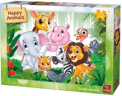 12 st. HAPPY ANIMAL PUZZEL D 125