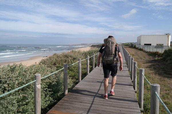 Start am Strand von Porto