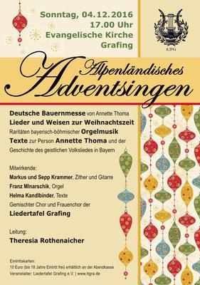 """""""Alpenländisches Adventsingen"""" LTG-Konzert 2016"""