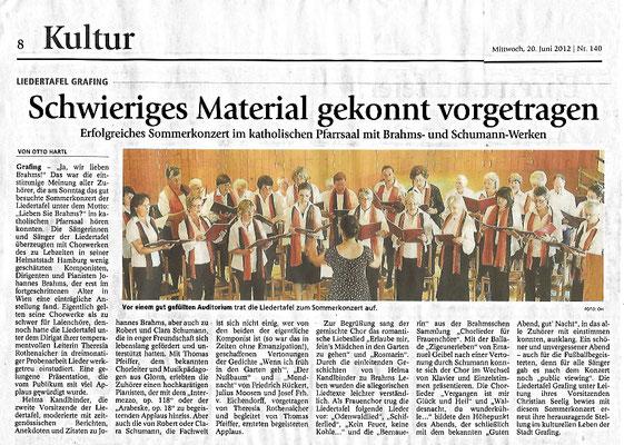 EZ 20.06.2012 – LTG-Sommerkonzert