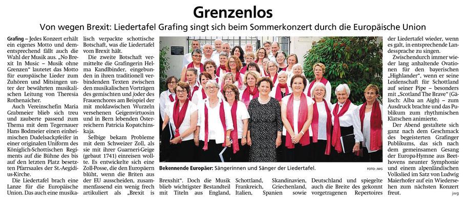 """EZ 23.07.2019 – """"NO BREXIT"""" – LTG Sommerkonzert vom 12.07.2019"""