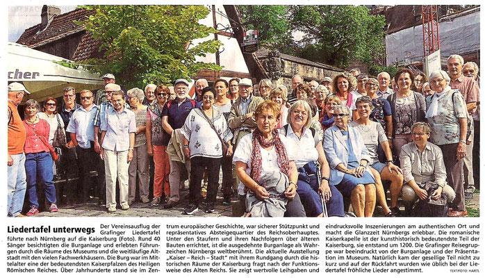 EZ 27.07.2017 – LTG-Chorausflug vom 23.07.2017 nach Nürnberg