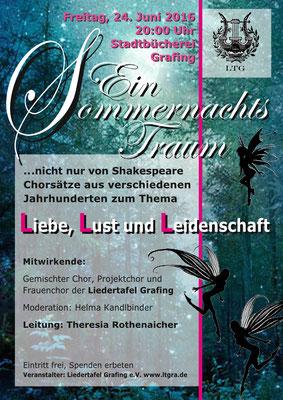 """""""Ein Sommernachtstraum"""" LTG-Konzert 2016"""