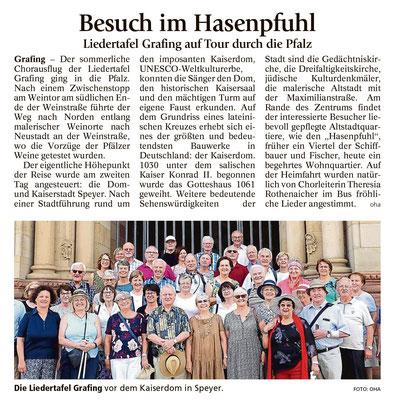 EZ 14.08.2018 – LTG-Ausflug nach Neustadt an der Weinstraße und Speier