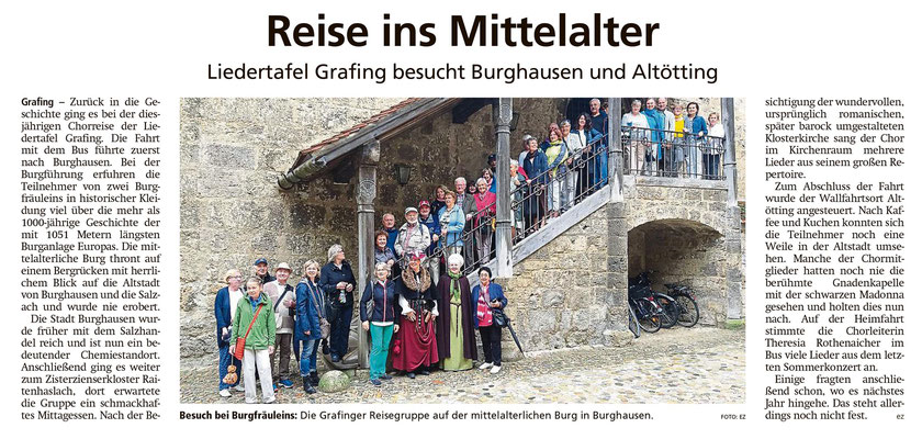 EZ 08.08.2019 – LTG-Ausflug nach Burghausen und Altötting