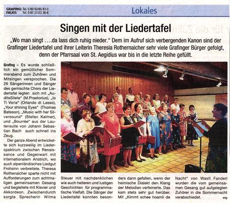 Hallo EBE 01.07.2017 – LTG-Sommerkonzert vom 25.06.2017 im Kath. Pfarrheim Grafing