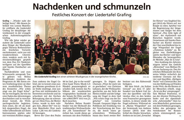 EZ 18.12.1019 – Adventskonzert in der evangelischen Kirche Grafing vom 08.12.2019
