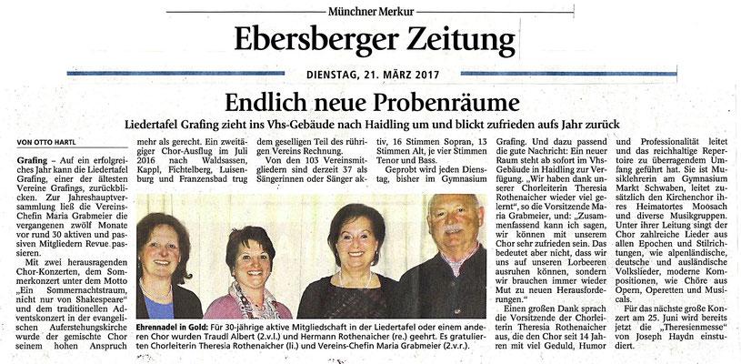 Hallo EBE 12. KW 2017 – LTG-Jahreshauptversammlung vom 14.03.2017