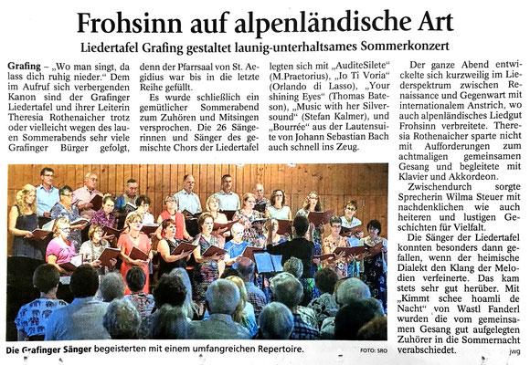 EZ 06.07.2017 – LTG-Sommerkonzert vom 25.06.2017 im Kath. Pfarrheim Grafing