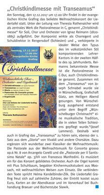 Grafing Aktuell 08.12.2017 - Ankündigung der Christkindlmesse vom 17.12.2017