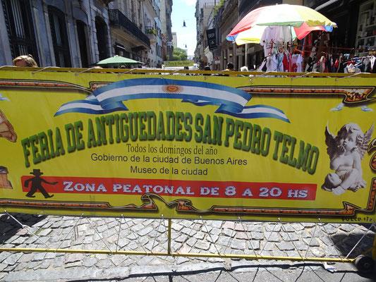 Der Sonntagsmarkt in San Telmo.