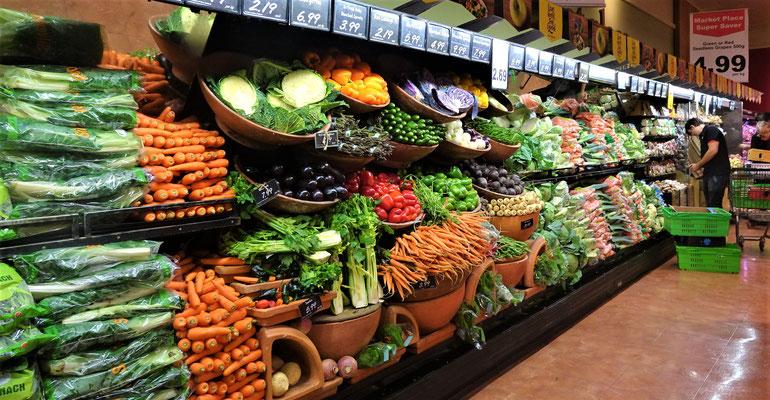 Schöne Präsentation im New World Supermarkt.
