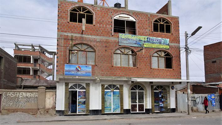 Das Büro der Reiseagentur in Uyuni.