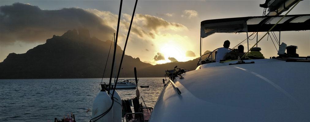 Abendstimmung in Bora Bora.