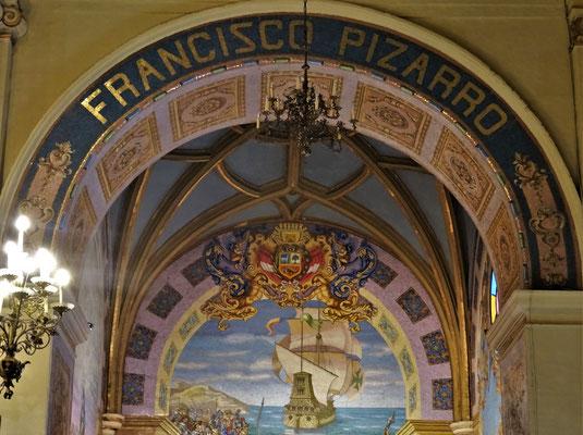 Das Grab von Pizarro mit....