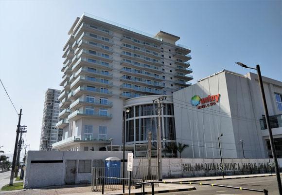 Unser Hotel in Arica mit.....