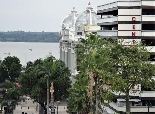 .....Rio Guayas vom Hotelzimmer aus.