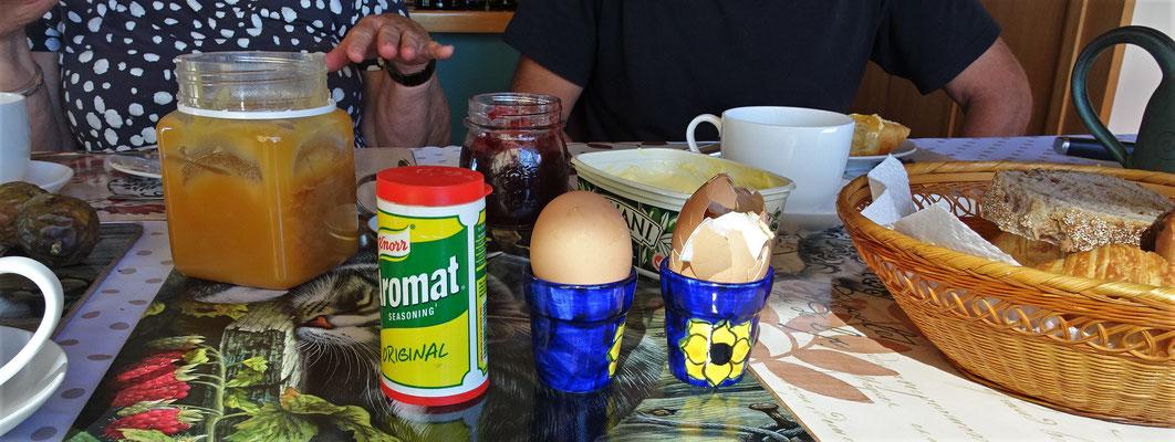 Aromat mit Eiern.......welch ein Genuss.