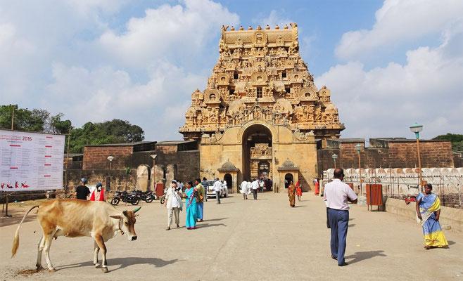 Der grosse Brahadeeswara Tempel aus dem Jahre 1003.