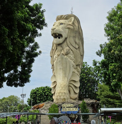 Der Merlion.