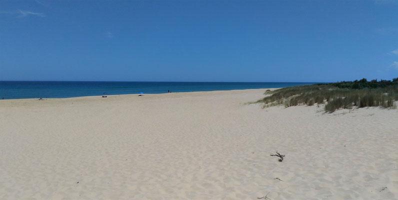 ....feine Sandstrand.