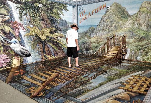 Fasszienierendes Boden-Wandbild......