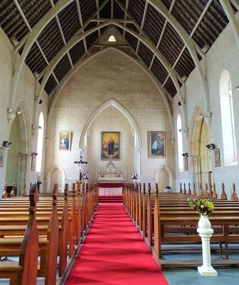 Das Innere der Kirche....