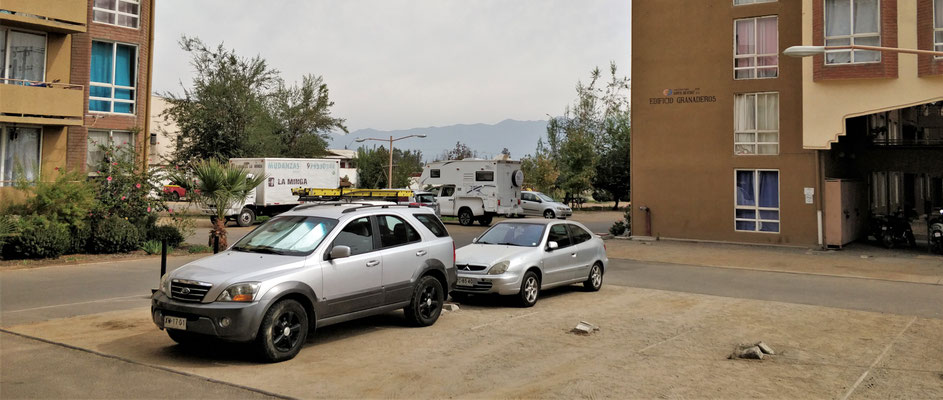 Der Parkplatz zum......
