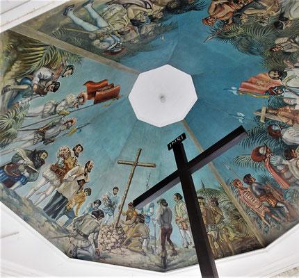 Die mögliche Szene an der Decke dargestellt.