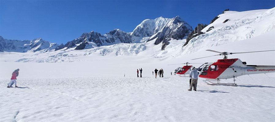 Auf dem Fox Gletscher....