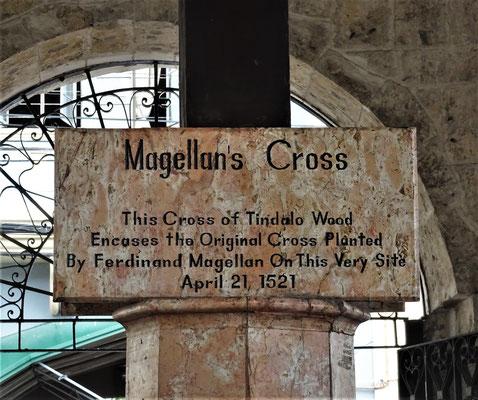 ....das Magelan am 21. April 1521 hier aufstellte.