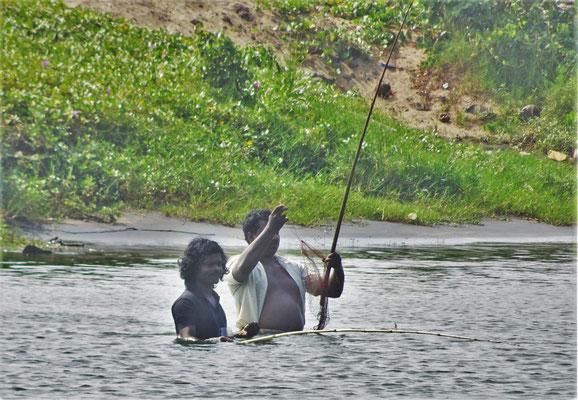 Auch eine Art zu fischen.