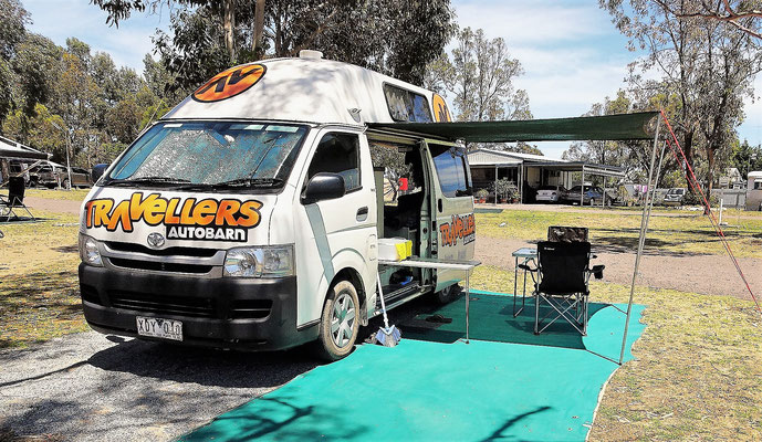 Unser Camp-Platz in Coffin Bay......