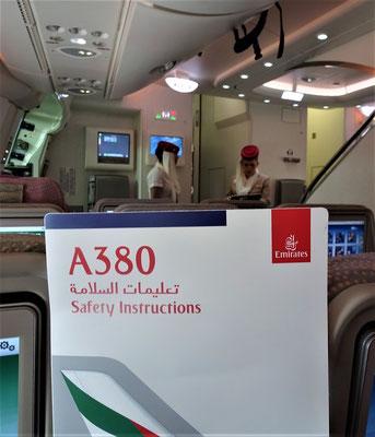 Das erste mal fliegen wir mit einem A380.