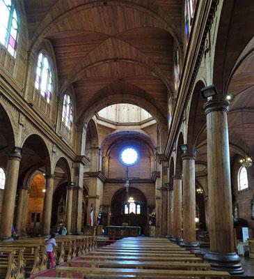 Die ganze Kirche wurde aus Holz gebaut......