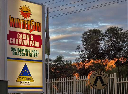 Unser Campground in Alice Springs.....