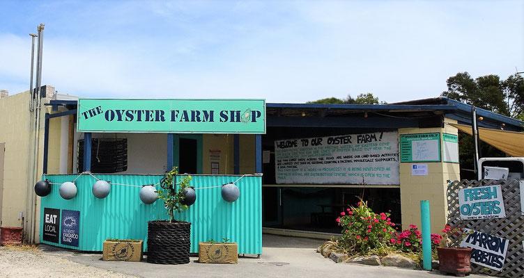 Unser Stopp bei der Austern Farm......