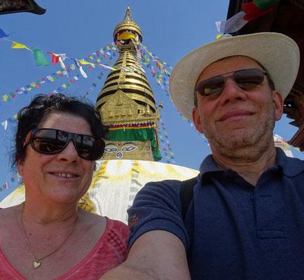 Ein Selfie mit der Tempelspitze.
