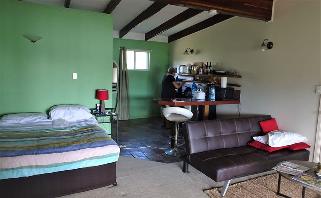 Unser Zimmer im Colonial Court in Airlie Beach.....