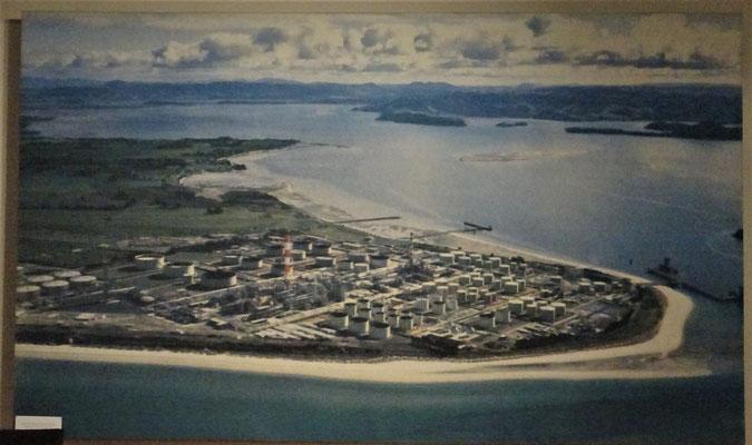 Die einzige Öl-Rafinerie von Neuseeland.