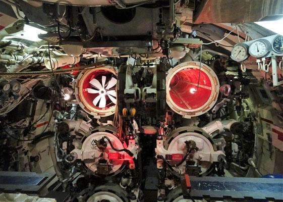 Der Torpedoraum und die.....