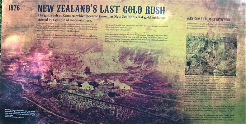 Der letzte Goldrausch in Neuseeland.
