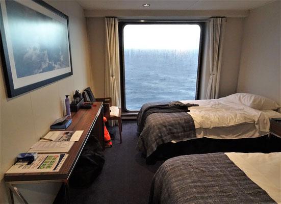 Die Kabine mit dem Panoramafenster.