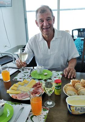 Champagner-Frühstück zur Pensionierung.