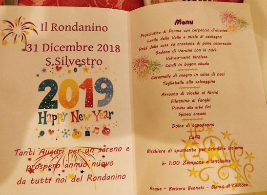 Das Neujahrsmenü mit.....