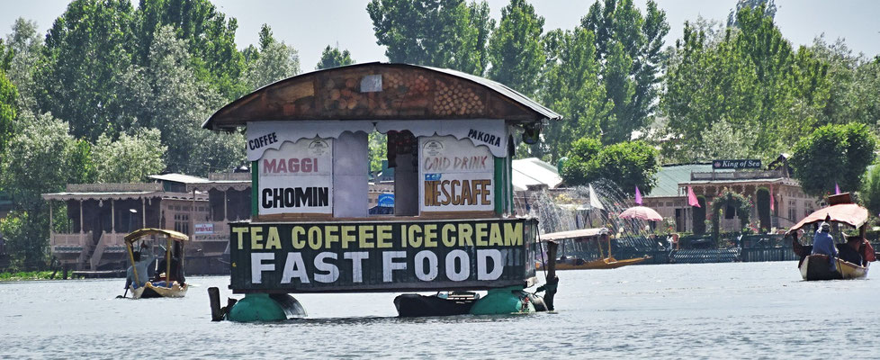 Fast Food auf dem See